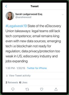 Legaltech2019 Tweet-2