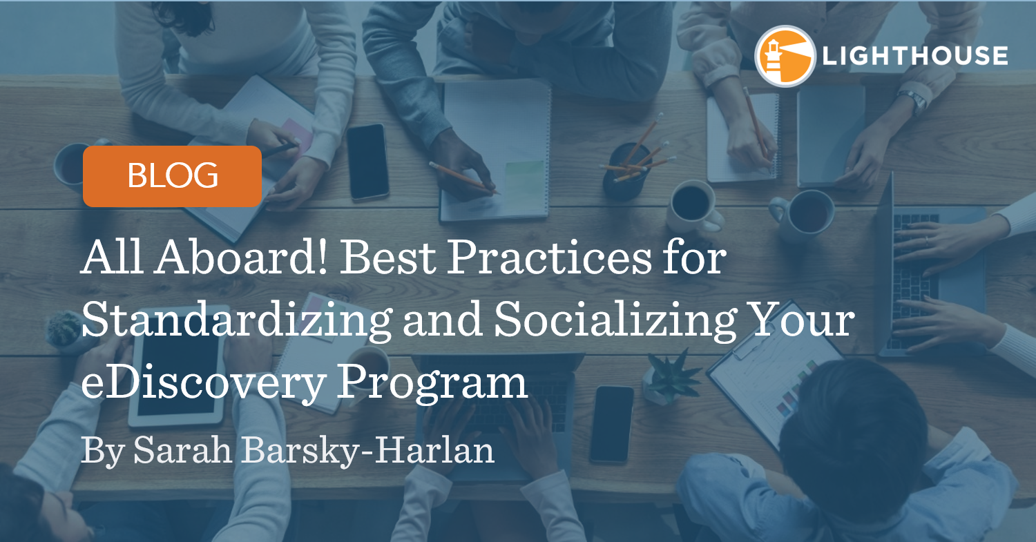 All Aboard! Best Practices for Standardizing and ...